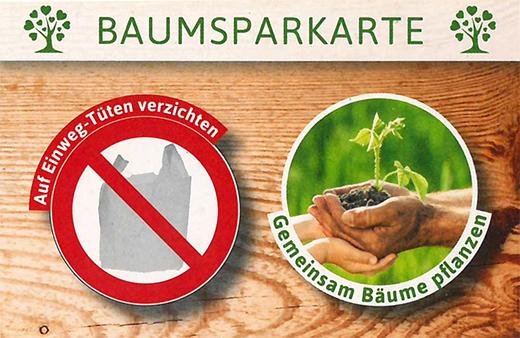 Baumsparkarte-Baumgutschein-Plastik meiden