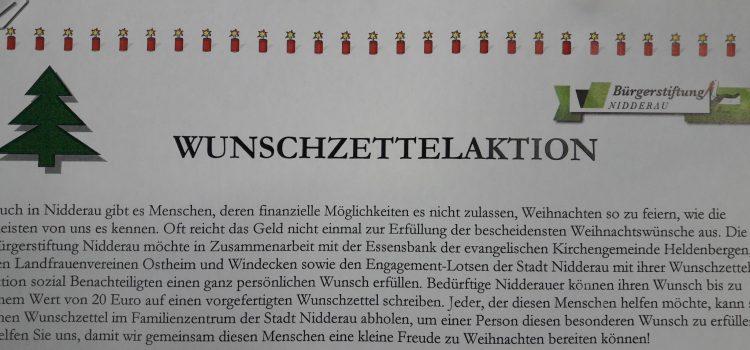 Wunschzettelaktion-Bürgerstiftung Nidderau-Weihnachten
